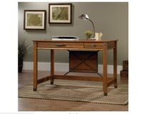 Small Writing Desks Antique Style Desk for Small Spaces #Sauder