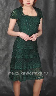 Красивое платье *Жаклин* Ванессы Монторо крючком