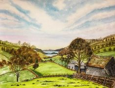 Valley view to Windermere by Julie iveson - Win vouchers worth from Winsor & Newton in our Calendar Challenge - February 2020 Valley View, Windermere, Competition, February, Palette, Challenges, Colour, Artist, Color