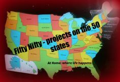50 State projects and resources by At Home: where life happens Us Geography, Geography Lessons, Teaching Geography, Teaching History, Geography Activities, History Education, States And Capitals, American History Lessons, Teaching Social Studies