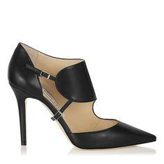 Black Calf Leather Pointy Toe Stilettos | Heath | Autumn Winter 14 | JIMMY CHOO Shoes