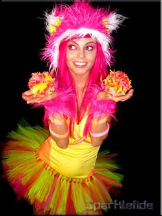 Custom Hot As Fire Rave Costume by SparkleFide on Etsy