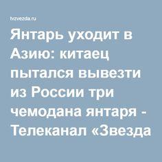 Янтарь уходит в Азию: китаец пытался вывезти из России три чемодана янтаря - Телеканал «Звезда»