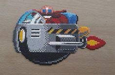 Sega Dr Robotnik 'Eggman' - Sonic Perler bead sprite  by PixelBeadPictures
