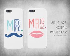 Cute Matching Couple Mr Mrs Couple Phone Case, iPhone 4/4S 5/5S from 365inlove.com