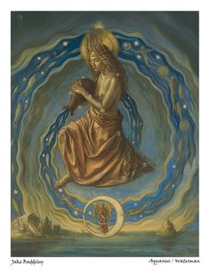 Buy Aquarius - limited edition fine art print from the zodiac series by Jake Baddeley by thresholdeditions. Explore more products on http://thresholdeditions.etsy.com