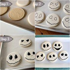 Nightmare before christmas Cookies step by step