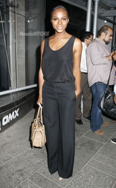 Simple and classy. (Tika Sumpter spotted in Times Square)