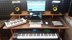 ♢Rabec Home Studio♢ My new studio desk, made for my friend Pawel. Im very excited! Let's make some techno music