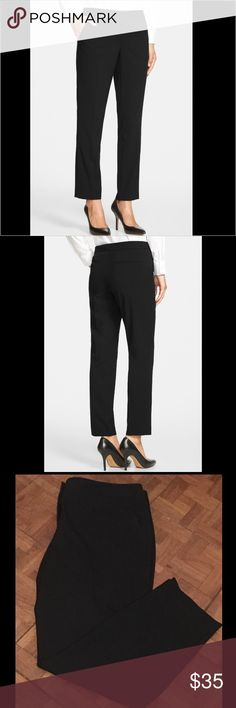 NWOT Vince Camuto work pants NWOT Vince Camuto Skinny Ankle Pants  - bought from Nordstrom, description of pants on their site:   A contemporary ankle-grazing cut defines wardrobe-staple pants infused with plenty of stretch. * Runs large  * Zip fly with double hook-and-bar closure * Front slant pockets; one welt back pocket * 68% polyester, 28% rayon, 4% spandex Vince Camuto Pants