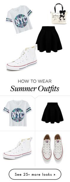 """""""Cute summer outfit"""" by wolff-sydney on Polyvore featuring Aéropostale, Converse, women's clothing, women, female, woman, misses and juniors"""