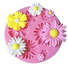 Flower Fondant Silicone Mold - OFF Today! Pretty daisy flowers, cut with color of fondant of your choice. Make cupcake and cake decorating a snap! Chocolate Molds, How To Make Chocolate, Making Chocolate, Chocolate Pudding, Fondant Molds, Cake Mold, Bolo Diy, Sugar Mold, Cake Decorating With Fondant