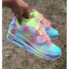 new concept df071 046cc Chaussure Nike Air Max 90 Candy Drip Rainbow Pas Cher