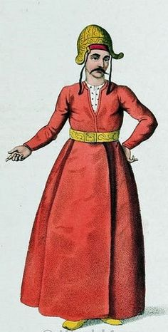An İçoğlan (male servant in the private appartments of the Ottoman sultan).  Istanbul, early 18th century.