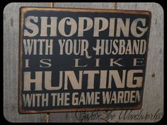 Primitive Folk Art Shopping Wall Sign by GoldieLooWoodworks, $16.00