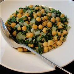 Espinacas con Garbanzos (Spinach with Garbanzo Beans) Allrecipes.com