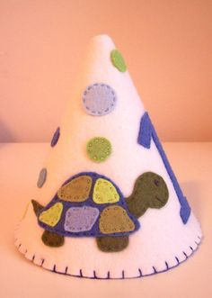 Turtle Felt Party Hat. $25.00, via Etsy.