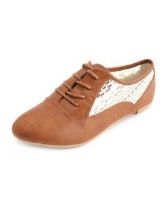 Lace Inset Oxford Flat: Charlotte Russe.  Got them today and am officially obsessed!!!
