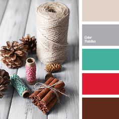 Color Palette #3682 beige, bright red, brown, burgundy-brown, christmas palette, color matching, color of chocolate, color of flax, color silver, color solution for winter, emerald, gray, light emerald, palette for the New Year, Red Color Palettes, steel.