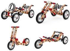 wooden go kart kits for kids Woodworking Toys, Woodworking Projects, Wooden Go Kart, Build Your Own Bike, Wood Bike, Wooden Scooter, Cardboard Car, Eco Kids, Buy Toys