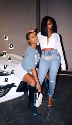 Best Friend Poses, Best Friend Outfits, Black Girls Pictures, Girl Outfits, Cute Outfits, Edgy Outfits, Boy And Girl Best Friends, Pretty Black Girls, Black Girl Aesthetic