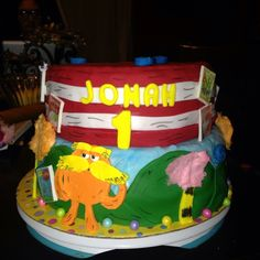 The Lorax Dr. Seuss Cake