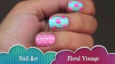Floral vintage nails