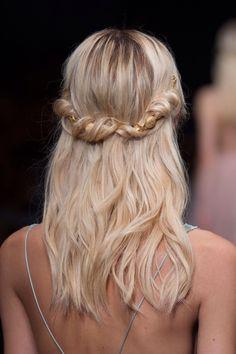 Simple bridal hair style