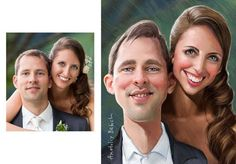 Personalized Art Wedding Portrait Digital by PhotoMaterial on Etsy