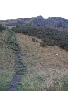 Treacherous path up a mountain in Edinburgh  (Photo Credit to Jenelle Schmidt 2004)
