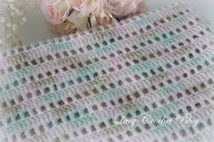 This baby blanket is very simple to make, and someone who knows how to crochet dc, sc, and ch could probably make it without a pattern. ...