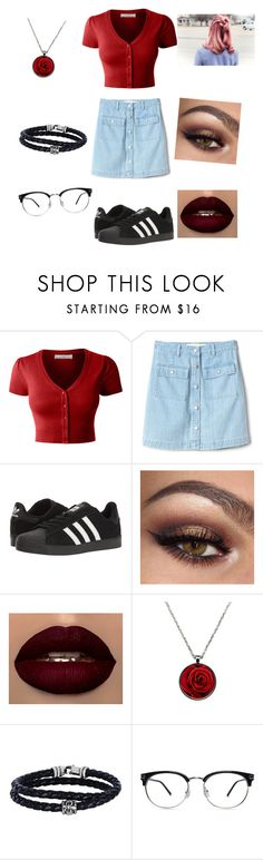 """""""Untitled #581"""" by vanessadawson1999 ❤ liked on Polyvore featuring LE3NO, Gap, adidas and Phillip Gavriel"""