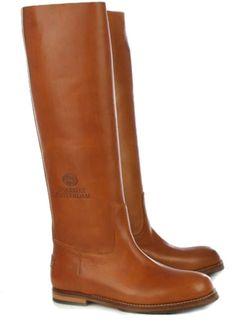 Shabbies Amsterdam hoge laarzen 108004 cognac online kopen