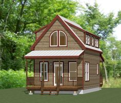 16x30 Tiny House -- 878 sq ft - Excellent Floor Plans