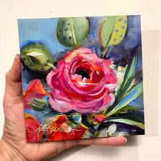 This whimsical ranunculus is an original oil painting by Lancaster, Pa artist Kim Smith Floral Wall Art, Arte Floral, Original Art, Original Paintings, Guache, Abstract Canvas Art, Arte Pop, Art Abstrait, Abstract Flowers