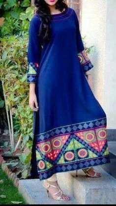 Latest Designer Kurti Designs For Summer Best Collection 2018 - Youme And Trends Kurta Designs, Indian Attire, Indian Ethnic Wear, Pakistani Outfits, Indian Outfits, Ethnic Fashion, Asian Fashion, Simple Dresses, Beautiful Dresses