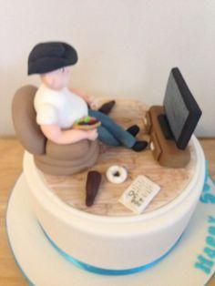 Sofa and tv cake