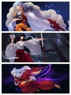 Sesshoumaru,Kikyou & InuYasha