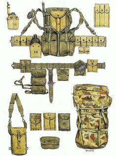 Late World War II Inproved Equipment Military Gear, Military Weapons, Military Equipment, Military History, Ww2 Uniforms, Military Uniforms, Army Gears, Vietnam War, Us Army