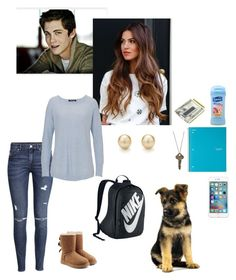 """""""writing"""" by writingismydreams ❤ liked on Polyvore featuring beauty, The Giving Keys, Suave, M-Clip, H&M, UGG Australia, Warehouse and NIKE"""