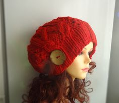 cable knit hat slouchy women men Slouchy Beanie Cable by Ifonka