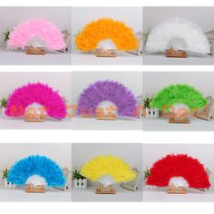 10 Colors Soft Fluffy Lady Fancy Dress Ball Costume Dance Masquerade Feather Fan #UnbrandedGeneric