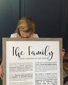 Family Proclamation Print- on Premium Paper- Modern Emphasized- LDS Family Proclamation, Proclamation To The World, Modern Typography, Typography Prints, Free Printable Quotes, Family Is Everything, Family Print, Painted Paper, Latter Day Saints