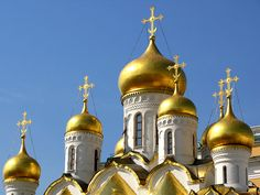 Onion Domes of Cathedral of the Annunciation, Russia (Home to the marriage of Ivan the Terrible and his wife Anastia)