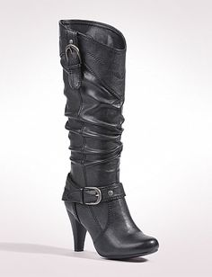 Shoes | Double Buckle Boots | dressbarn