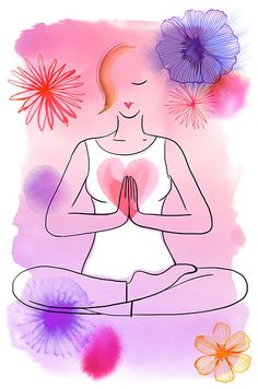 Margaret Berg Art: Yoga+Women's+Health Margaret Berg Art: Yoga+Women's+Health Yoga Kundalini, Chakra Meditation, Pranayama, Ashtanga Yoga, Yoga Art, My Yoga, Reiki, Yoga Illustration, Mudras