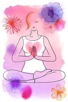 Margaret Berg Art: Yoga+Women's+Health