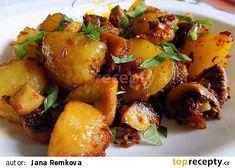 Pečené brambory se žampiony recept - TopRecepty.cz