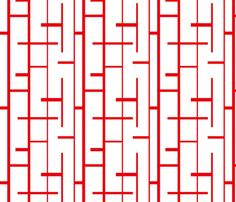 red lines fabric by reen_walker on Spoonflower - custom fabric