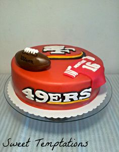 49ers cake - I made this 49ers cake for a big Montana fan.